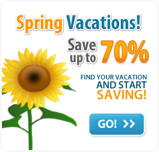 Spring vacations! You can save up to 70%